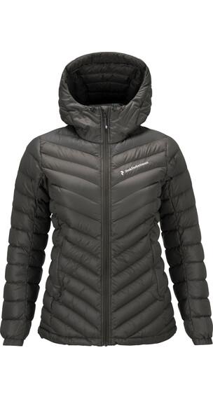 Peak Performance Frost Down Hood Jacket Women Black Olive